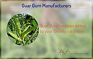 Ever wonder why guar gum is healthy food additive?