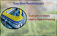 Guar gum gives impressive Flocculant Aids in food processing