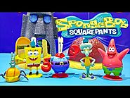 SpongeBob SquarePants Bikini Bottom Set Patrick Star Squidward Tentacles Mr Krabs Toys Bob Esponja