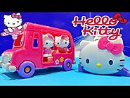 Hello Kitty Vellutata School Bus & Silly Slider Playset Toys ★ Hello Kitty Autobús Escolar Juguete