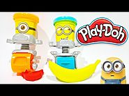 Play Doh Minions Stamp & Roll Toy Review Featuring Despicable Me ★ Corrida de Minions by Hasbro Toys