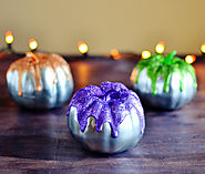 DIY Metallic Glitter Frosted Pumpkins [TUTORIAL] | Bre Pea | The Creative Lifestyle Blog of Bre Paulson
