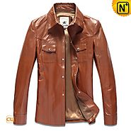 CWMALLS Mens Leather Shirt CW866104