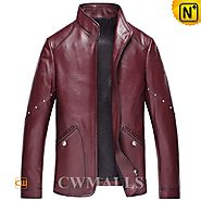 CWMALLS Mens Leather Biker Jackets CW850405