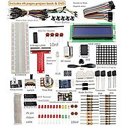 Sunfounder Project Super Starter Kit for Raspberry Pi 2 & Model B+ w/ 40-Pin GPIO Extension Board, GPIO Cable, H-...