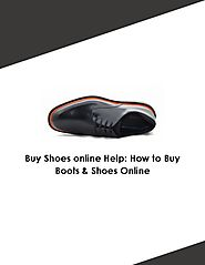 Buy Shoes online Help How to Buy Boots & Shoes Online - PdfSR.com