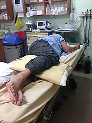 It was 9:30 am when Dave Took his fall. We arrived at the hospital close to 8:00 pm.