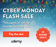 Online Courses: 30,000+ On-demand Classes from Udemy - Cyber Monday Flash Sale!