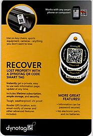 Dynotag® Web/GPS Enabled QR Code Smart Round Laminated Synthetic Tag.