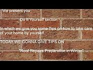 Roof Repair Preparation In Winter | Building Inspections Perth WA | bhis
