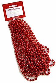 Holiday Time Red Bead Garland - 18'