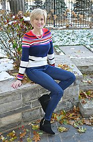 Get Cozy In A Colorblocked Sweater