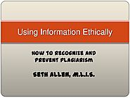 Using Information Ethically