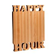 Happy Hour Cutting Board - Maple - Small