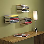 Umbra Conceal Floating Bookshelf, Large, White