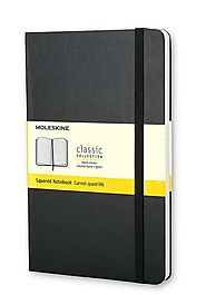 Moleskine Classic Notebook, Large, Squared, Black, Hard Cover (5 x 8.25) (Classic Notebooks)