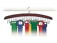 Richards Homewares Closet Accessories 12 Belt Hardwood Hanger
