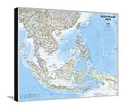 National Geographic - Southeast Asia Map Canvas