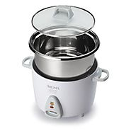 Aroma Simply Stainless 6-Cup (Cooked) (3-Cup UNCOOKED) Rice Cooker, Stainless Steel Inner Pot (ARC-753SG)