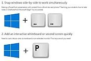 12 Windows shortcuts every educator should know - Microsoft in Education Blog - Site Home - TechNet Blogs