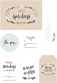 Free Illustrated Christmas Gift Tags by Best Day Ever
