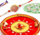 Savor the tradition by sending Rakhi Puja Thali to India