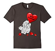 Be My Valentine Maltese T-Shirt - New Finds Online