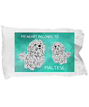 Maltese Dogs Lovers Pillow