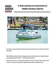 A Safe And Secure Investment at Hidden Harbour Marina