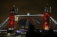 British cities light up in support of grieving Paris