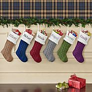 Cozy Cable Knit Personalized Stocking - Personal Creations