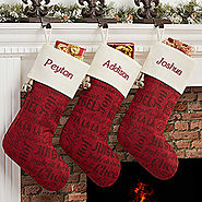 Winter Melody Personalized Christmas Stocking