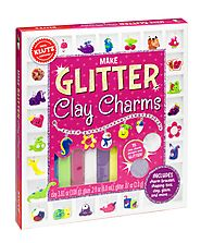 Make Glitter Clay Charms Craft Kit by Klutz