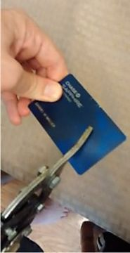 How to securely dispose of an old credit card