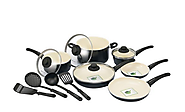 GreenLife 14 Piece Nonstick Ceramic Cookware Set with Soft Grip, Black $78 freeshipping