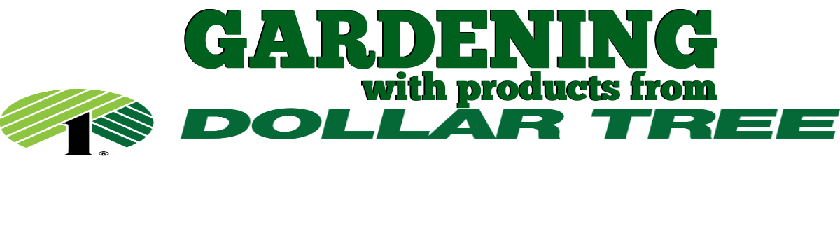 Headline for Save Money Gardening with The Dollar Tree