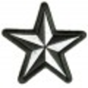 Black White Star Patch