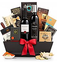 The 5th Avenue Wine Gift Basket - GiftTree.com