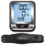 MeasuPro Wireless Bicycle Computer, Speedometer, Odometer, Calorie Tracker, and Heart Rate Monitor