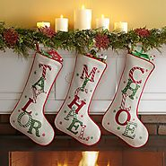 Festive Name Christmas Stocking