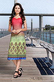 Shop the Latest Trendy Short Kurtis Collection Online at 50% OFF.