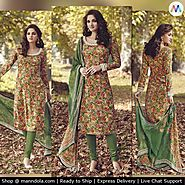 Exclusive Multi Colour Tussar Silk Salwar Suits‬ at 14% Discounted Price