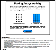 Making Arrays Activity
