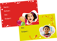 Online Personalized School Note Book Label Printing - Flexi Print