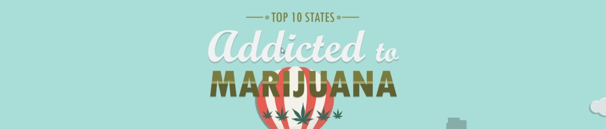 Headline for Top 10 States Addicted to Marijuana