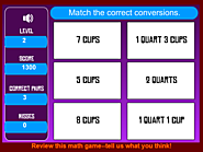 Math Games: Cups to Quarts - Measurement