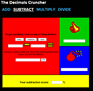 The Decimals Cruncher - Subtraction