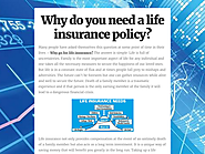 Why do you need a life insurance policy?