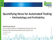 Quantifying News For Automated Trading