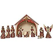 Jim Shore Heartwood Creek Regal 10 Pc Mini Nativity Figurine